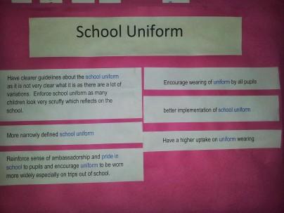 Comments about school uniform