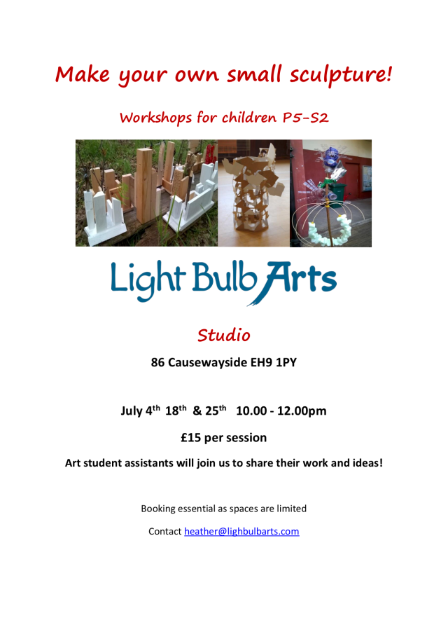 Summer Sculpture workshops